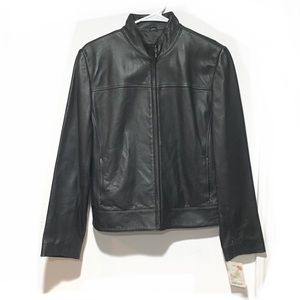 NWT Lord & Taylor Trendy Leather Jacket